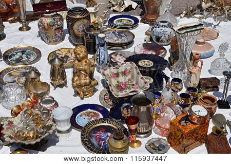 Antique Porcelain Plates And Vases