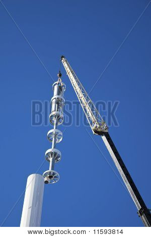 Assembling Cell Tower With Stealth Antennas
