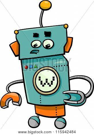 Comic Robot Cartoon Character