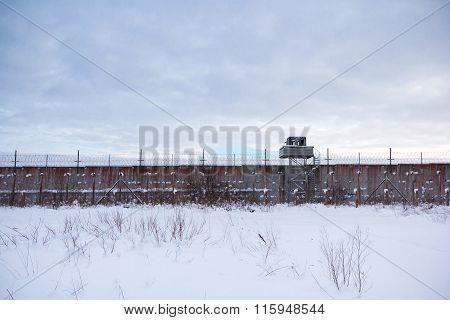 Old Soviet Union prison wall