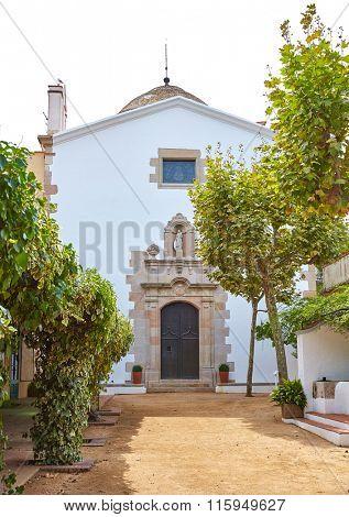 Santa Cristina Ermita hermitage in Lloret de Mar at Costa Brava of Catalonia Spain