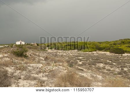 Storm over the dunes