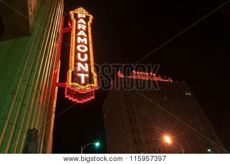 Urban Neon Signs And Lighting Paramount  Downtown Amarillo Texas Usa