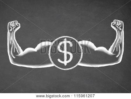 Strong dollar. Financial concept.