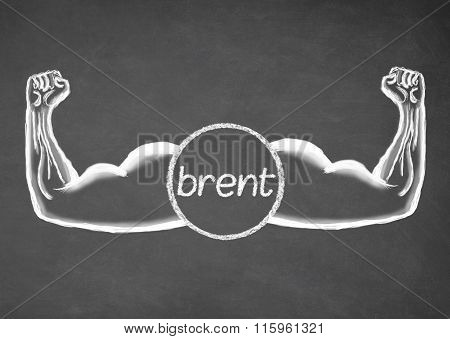 Strong Brent. Financial concept.