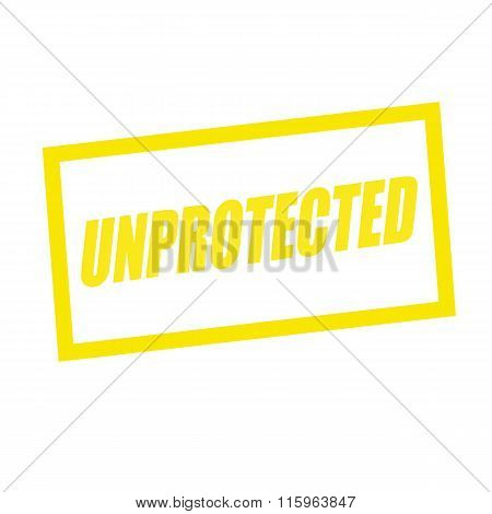 Unprotected Yellow Stamp Text On White
