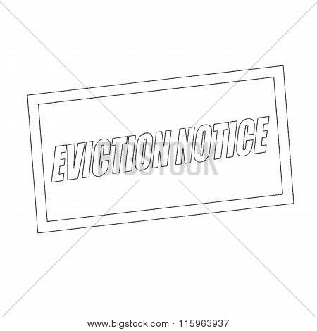 Eviction Notice Monochrome Stamp Text On White