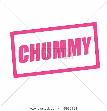Chummy Pink Stamp Text On White