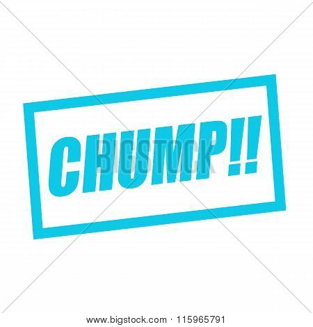 Chump Blue Stamp Text On White