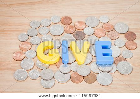 Give Alphabet With Various Us Coins