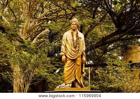 MALLESHWARAM, Bangalore/India January 29th 2016: Statue of Swami Vivekananda