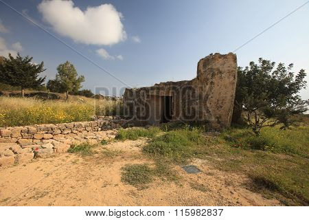Part Of The Ruins Of The Tombs Of The Kings Paphos, Cyprus