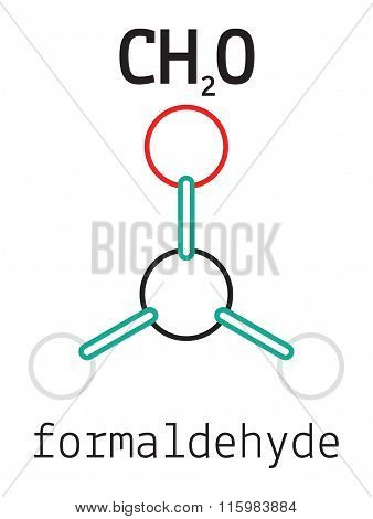 H2CO formaldehyde molecule