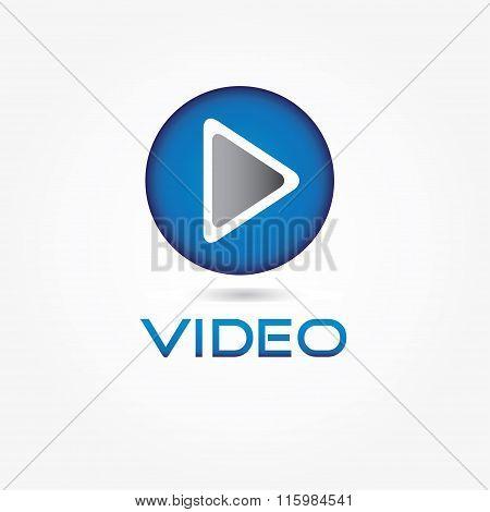 Play Video Button Vector Design Template