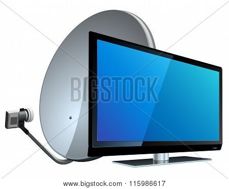 TV with Satellite antenna