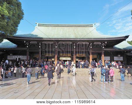 Meiji-jingu shrine in Tokyo, Japan.