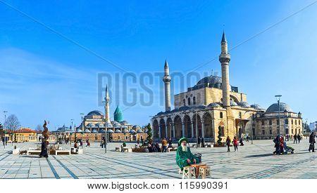 The Central Square Of Konya