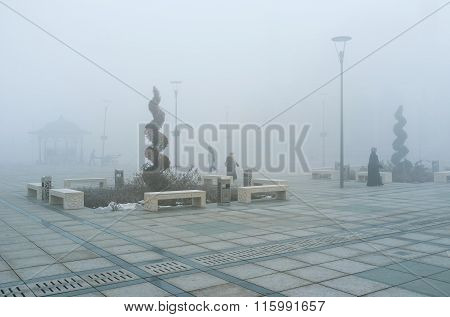 The Misty Morning In Konya