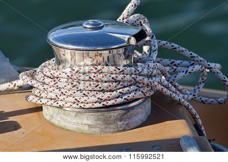Capstan On A Sailboat
