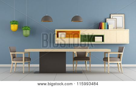 Modern Dining Room With Minimalist Table