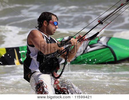 Kitesurfer In Action