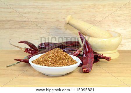 Cayenne Powder and dried chili, Seasoning.