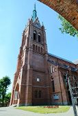 Catholic church of the Assumption of the Virgin Mary Palanga Lithuania poster