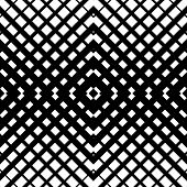 Abstract grid mesh pattern with intersecting lines. Symmetric cellular repeatable seamless pattern. Monochrome vector art. Grille Lattice background. poster