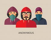 An anonymous hacker team poster