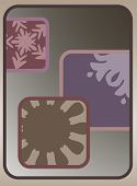 a digital art illustration of modern cubed icon clipper art. poster