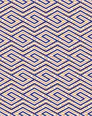 Colorful geometric seamless pattern with symmetric zigzag ornament. Rhombs and parallelograms graphic contemporary background. Bright splicing infinite backdrop. poster