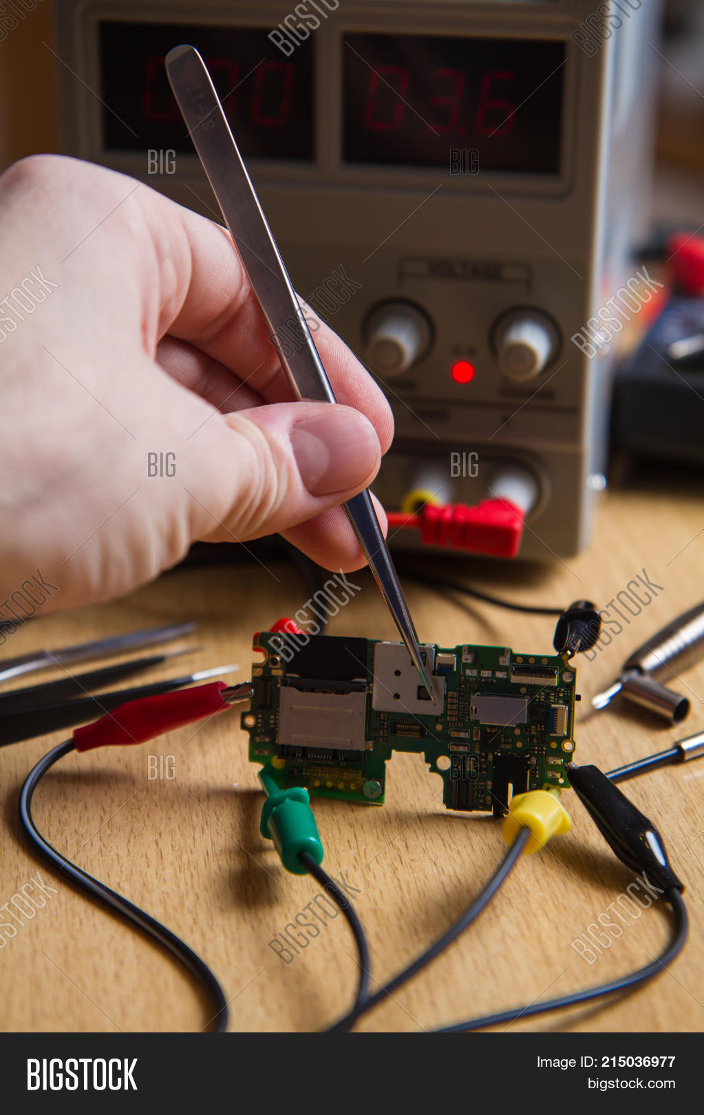 Circuitboardtablejpg Repair Electronic Image Photo Free Trial Bigstock Circuit Board Manually Tweezers Probes Measuring Device Probe Of Oscilloscope Card Chips Power