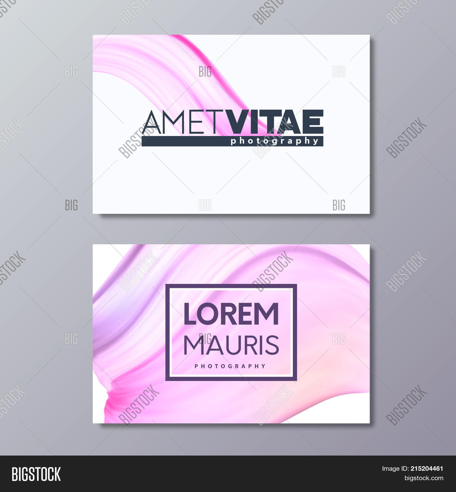 Art abstract pink business card vector photo bigstock art abstract pink business card template paint brush colorful smudge emblem design fbccfo Image collections