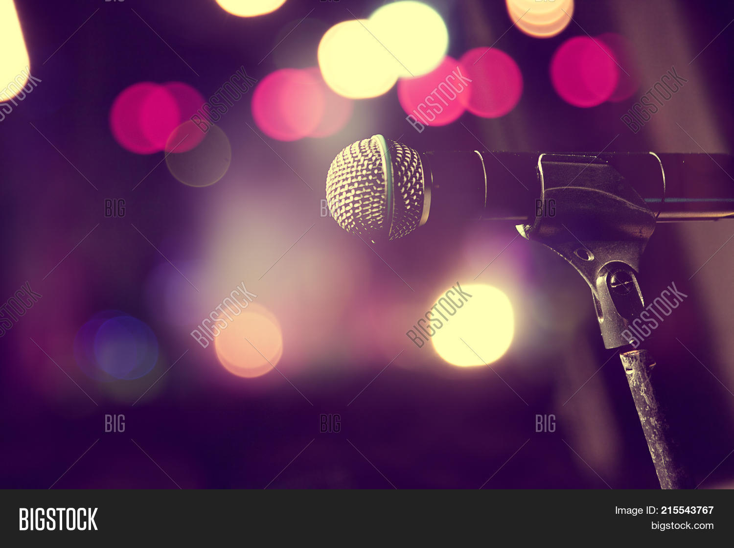 Live Music Background Microphone And Stage Lights LightsConcert