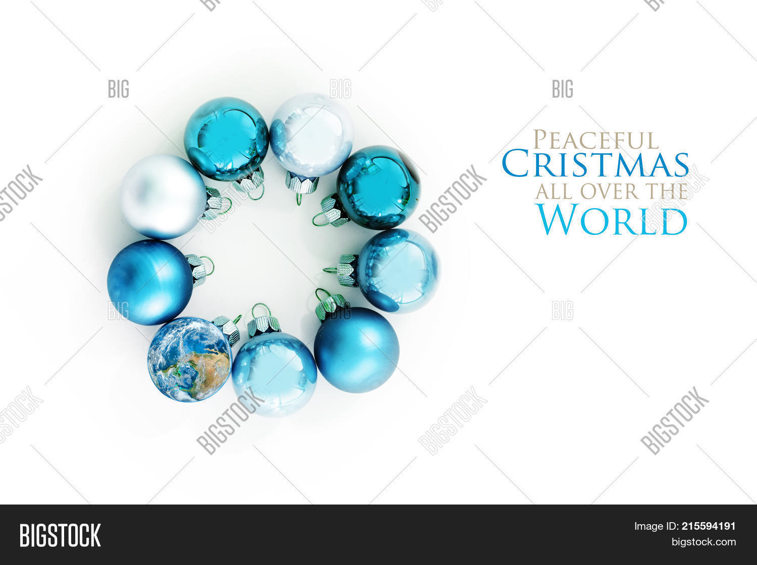 Blue Christmas Balls Image & Photo (Free Trial) | Bigstock
