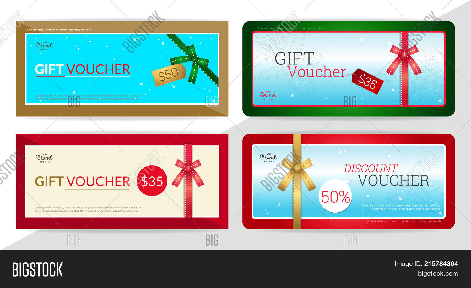 Gift Certificate Vector & Photo (Free Trial) | Bigstock