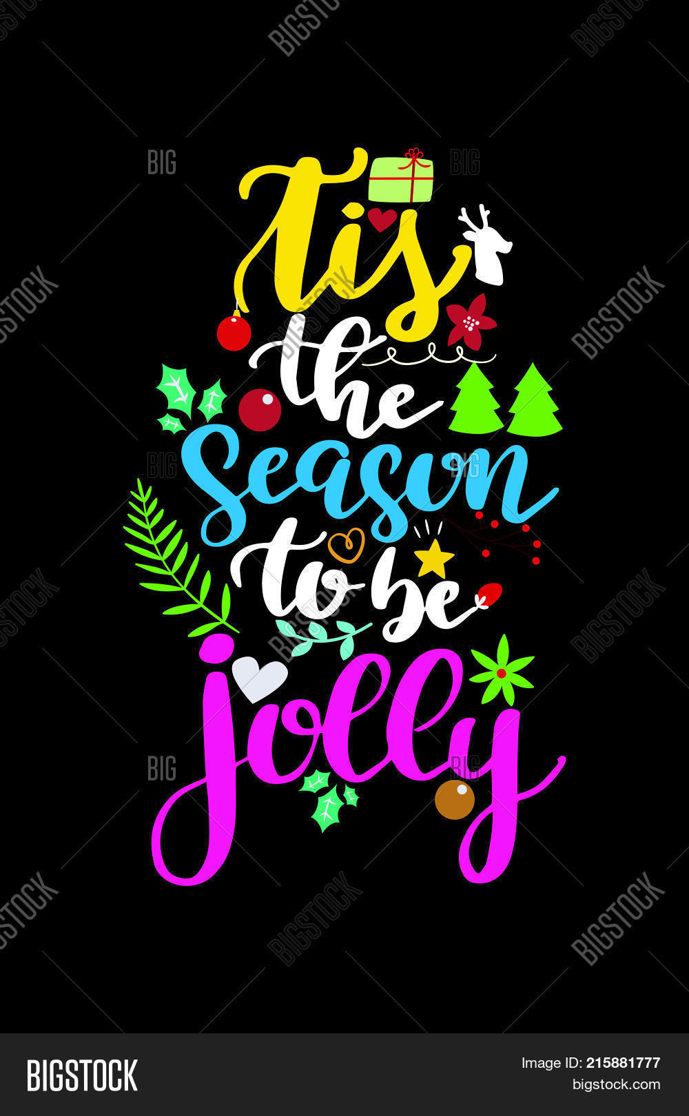 christmas quote vector photo trial bigstock