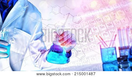 Representation Of Chemical Sciences Teaching Concept With Lights