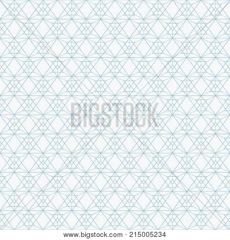 Abstract triangle background. Repeating geometric tiles. Linear grid with triangles. Subtle geometric texture. Seamless triangles pattern. Light geometric background. Contemporary graphic design.