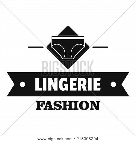 Lingerie beauty logo. Simple illustration of lingerie beauty vector logo for web