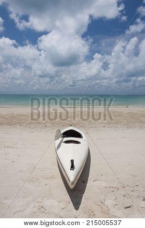 kayak on the beach at samed island
