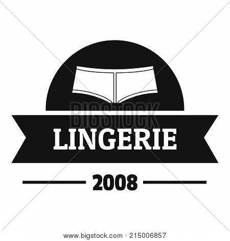 Lingerie girl logo. Simple illustration of lingerie girl vector logo for web