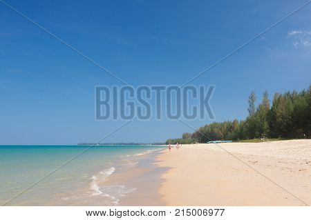 Beautiful sky and tropical sea at Phuket Thailand