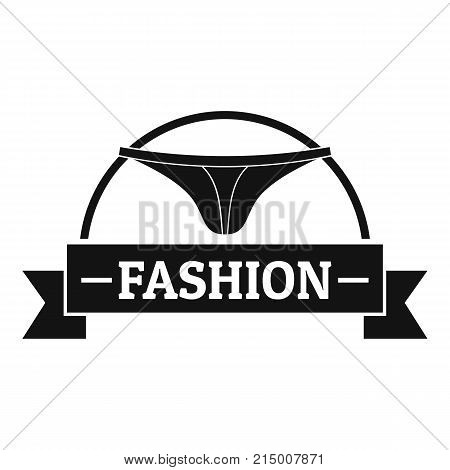 Underpant fashion logo. Simple illustration of underpant fashion vector logo for web