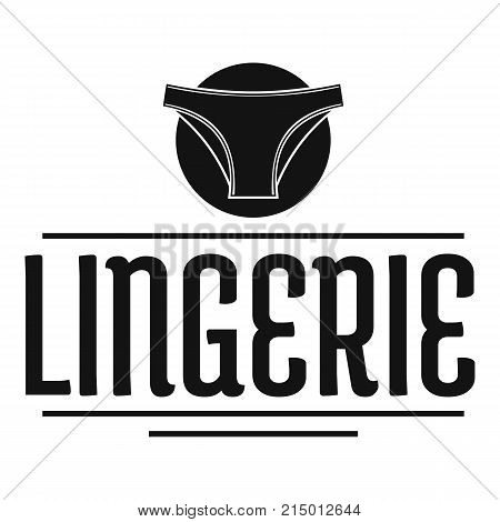 Lingerie design logo. Simple illustration of lingerie design vector logo for web