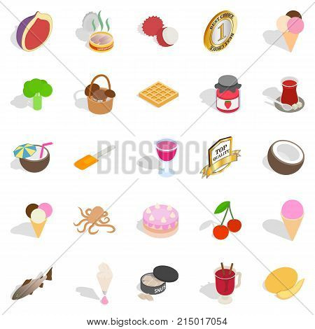 Vitamin bomb icons set. Isometric set of 25 vitamin bomb vector icons for web isolated on white background