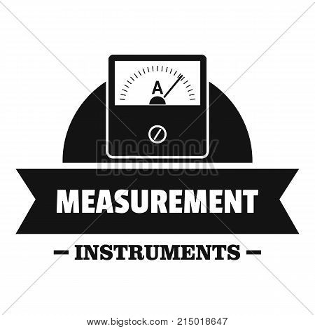 Measurement instrument logo. Simple illustration of measurement instrument vector logo for web