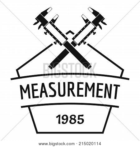 Vernier caliper logo. Simple illustration of vernier caliper vector logo for web