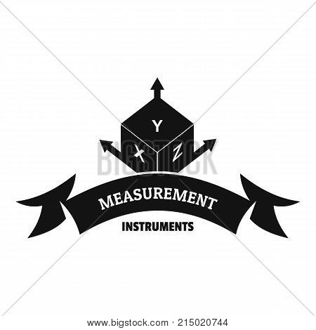 Measurement cube logo. Simple illustration of measurement cube vector logo for web