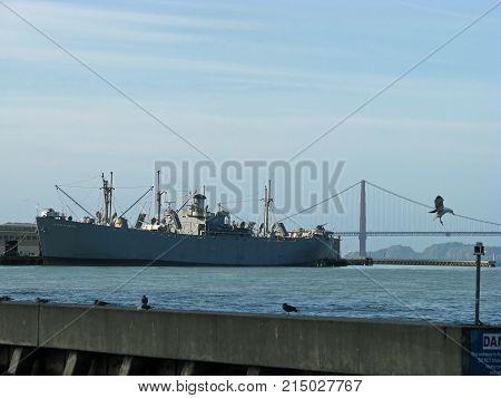 SAN FRANCISCO, CA - NOVEMBER 18: SS Jeremiah O'Brien at Pier 45 November 18, 2012 in San Francisco, California